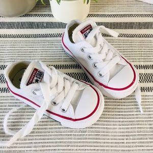 Converse white shoes sz 5 infant